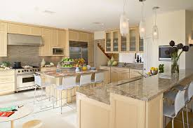 Ivory Colored Kitchen Cabinets - fabulous ivory colored kitchen cabinets with island sub zero