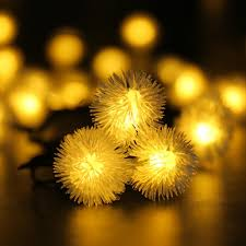 amazon com qedertek pom pom solar christmas lights 15 7ft 20