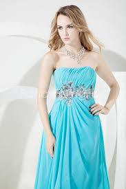 cheap graduation dresses for 8th grade blue chiffon strapless neckline graduation dresses for 8th