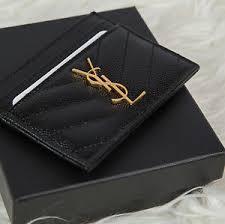 ysl business card holder authentic ysl laurent monogram matelassé card holder ebay