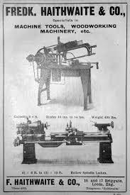 Old Woodworking Tools Wanted Uk by Frederick Haithwaite Lathe