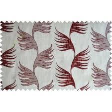 beige hanging bird feather design poly curtain designs