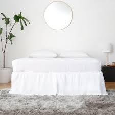 Linen Bed Frame Belgian Linen Bed Skirt Wayfair