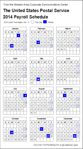 2014 postal payroll calendar your postal blog