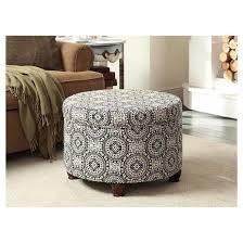 large round storage ottoman black white homepop target