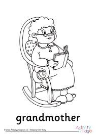 grandparents u0027 day colouring pages