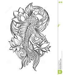 koi carp tatoo 1 stock illustration image 71144923