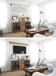 Wohnzimmer Berlin Karte A Simple Way To Hide The Tv My Husband Thinks Using An Old Map As