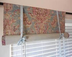 Tuscan Valance Window Curtain Tie Up Valance Roll Up Shade Kitchen Valance