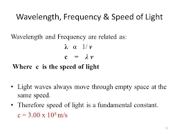 Speed Of Light Constant Chapter 7 Quantum Theory Of Atom Bushra Javed Ppt Online