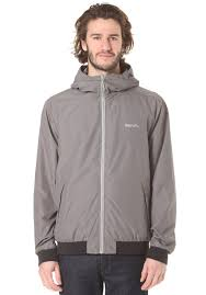 Bench Windbreaker Bench Pastance Jacket For Men Grey Planet Sports