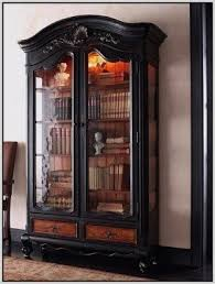 Bookcases With Glass Wooden Bookcases With Glass Doors Foter
