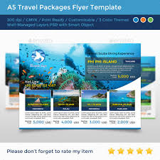 travel packages images A5 travel packages flyer by ninninny graphicriver jpg