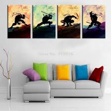 4p cartoon painting hand painted abstract wall paintings home
