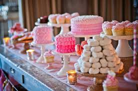 Pink And Gold Dessert Table by Deliciously Darling Pink Dessert Table Wedding Dessert Table