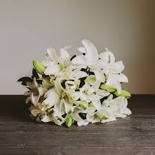Flowers Same Day Delivery Elegant White Lily Bouquet Wellington Florist Same Day Delivery