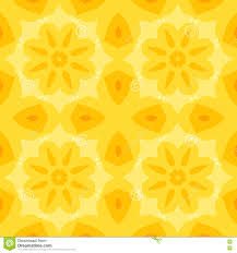 seamless simple texture with a yellow flower and stylized orange