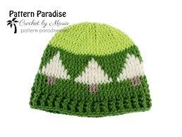 christmas tree hat free crochet pattern christmas tree hat pattern paradise