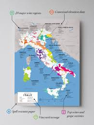 California Wine Country Map Detailed Italian Wine Regions Map Wine Posters Wine Folly