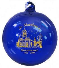church bicentennial commemorative ornament
