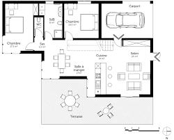 plan de maison en l avec 4 chambres plan maison à toit plat avec 4 chambres ooreka