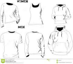 t shirt templates stock vector image of fashion illustration