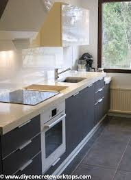 Kitchen Ideas Black Cabinets by Countertops Simple Farmhouse Kitchen With Concrete Countertop And