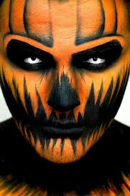halloween face paint ideas scary pumpkin black tutu and scary