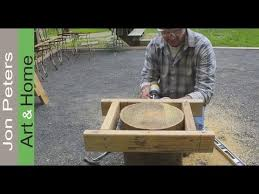How To Make A Wood Stump End Table by How To Make A Level Cut With A Chainsaw Creating Outdoor