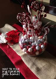White Christmas Centerpieces - candy swirl christmas centerpiece wait til your father gets home