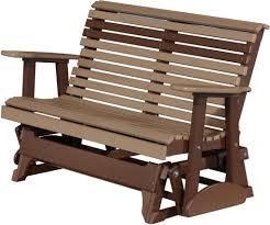 Antique Metal Patio Chairs Furniture Vintage Burgundy Metal Outdoor Porch Glider Design