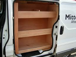 renault trafic back renault trafic swb offside and bulkhead shelving with side load