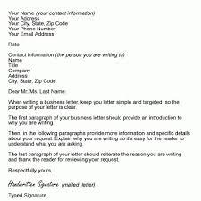 business cover letter format sample covering letter format