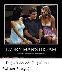 Charlie Sheen Winning Meme - every man s dream charlie sheen calls it a slow tuesday very