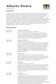 Resume For Internship Template Legal Intern Resume Samples Visualcv Resume Samples Database