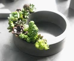 handmade concrete succulent planter flower pot feelgift