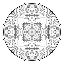 geometric circle coloring pages for adults coloringstar