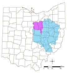 Ashland Ohio Map by Muskingum River