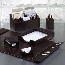 Office Desk Accessories Set Leather Desk Organizer Shingo Craftwork Giftware Factory With