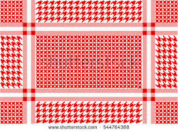 arabic cotton scarf geometric hounds tooth stock vector 544764388