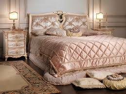 Gold And White Bedroom Furniture Double Bed Louis Xvi Style Wooden White And Gold Vimercati