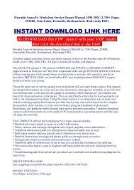 2001 hyundai santa fe owners manual hyundai santa fe workshop service repair manual 1999 2001 1 700 pag