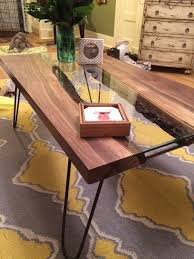 Rounded Edge Coffee Table - live edge river coffee table 6 steps with pictures
