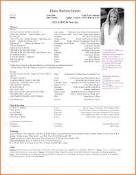 acting resume template free acting resume template free 9 sample