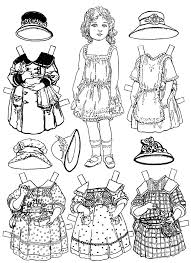 paper doll coloring pages coloring page blog