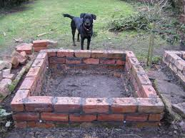 building a raised garden bed with bricks home outdoor decoration