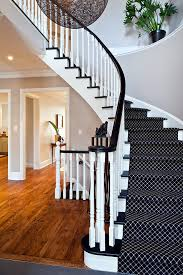 monochrome wool carpet runner is a great addition to a black and