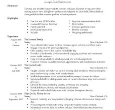 Resume Format For Teens Nanny Resume Example Sample Teen Resume Wonderful Design Ideas