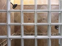glass block bathroom designs glass block showers houston glass block