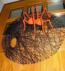 Halloween Spider Wreath by Our Crafty Home Spider Web Halloween Wreath